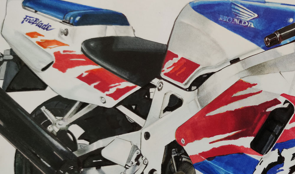 Motorcycle Drawing - Motor art - Motor Sketch